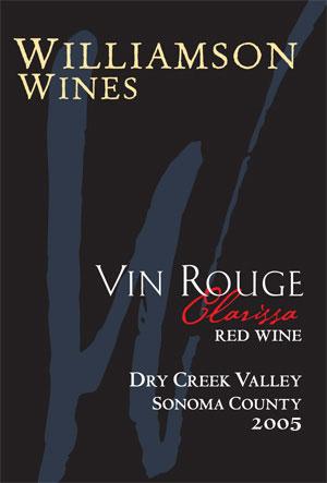 Clarissa Vin Rouge 2005 - Half Bottle