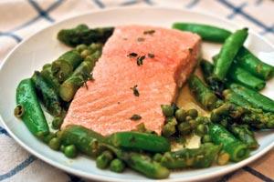 Poached Salmon, Olive Oil & Horseradish