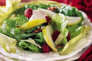 Pear Salad, Laura Chenel Chèvre & Citrus Dressing