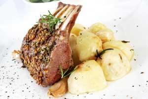 Rack of Lamb with Rosemary and Mustard Cream