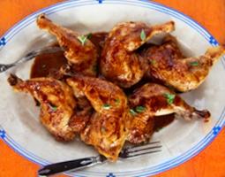 Chardonnay Chicken Legs with Marjoram