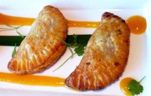 Achiote Chicken Empanadas with Mango Chutney