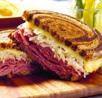 Reuben Sandwich with Homemade Sauerkraut