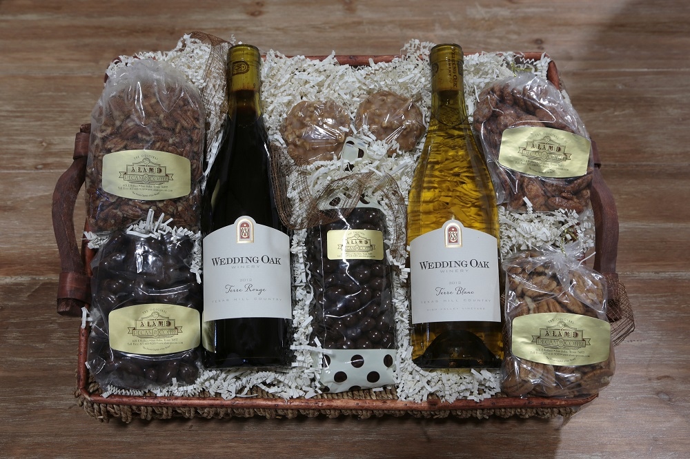 Two-Bottle Wine and Pecan Specialty Gift Basket