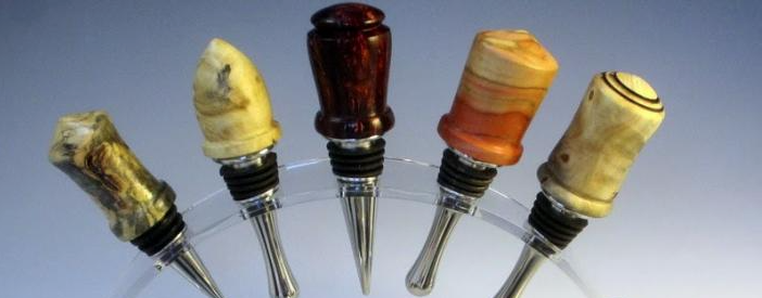 Wine Bottle Stopper w/ Metal Insert