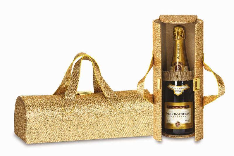 Carlotta Clutch in Glitter Gold