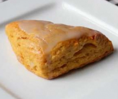 Caress Scones with Sauteed Pear Chutney