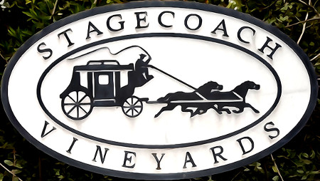 Stagecoach Vineyards Sign