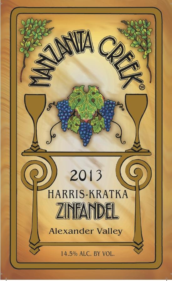 2013 Zinfandel,  Harris-Kratka, Alexander Valley