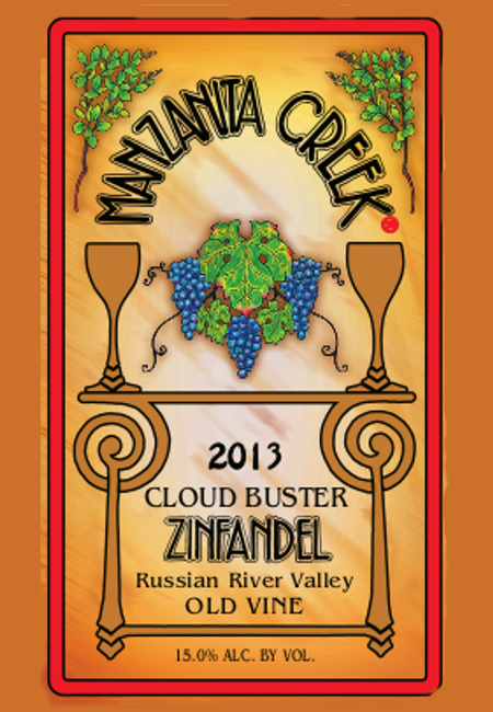Zinfandel, 2013 Cloud Buster, Old Vine, Russian River Valley