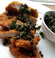 Pork Cutlet with Fresh Herb Gremolata