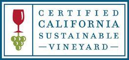 Certified California Sustainable Vineyard sign