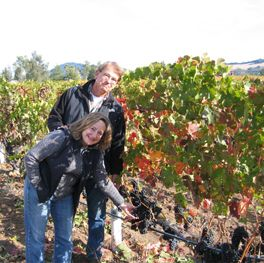 Acorn Winery owners Bill and Betsy Nachbaur in their Alegria Vineyards