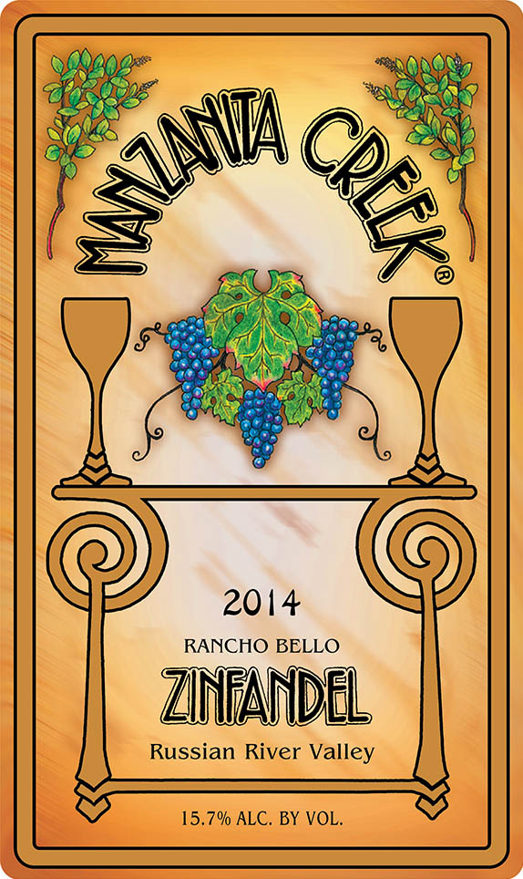 2014 Zinfandel, Rancho Bello, Russian River Valley