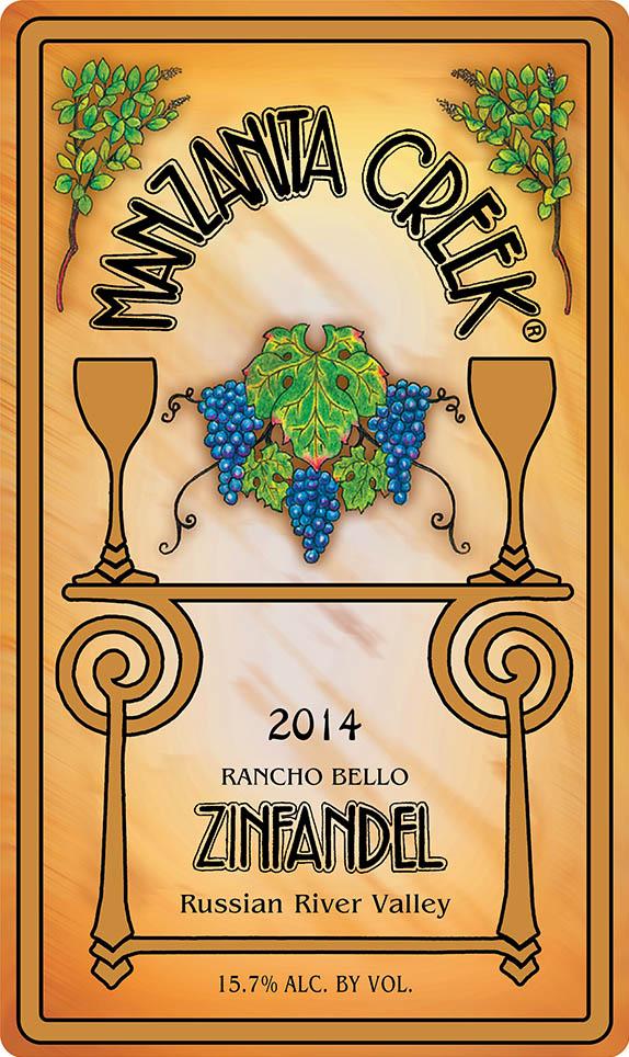 2014 Zinfandel, Rancho Bello, Russian River Valley