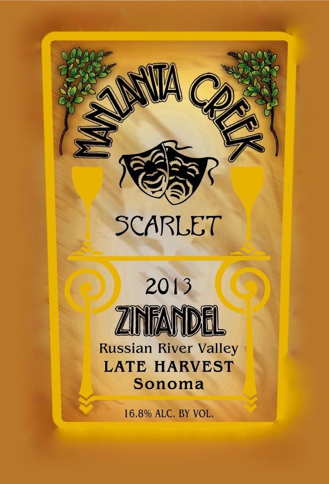 Scarlet, Late Harvest Zinfandel, 2013