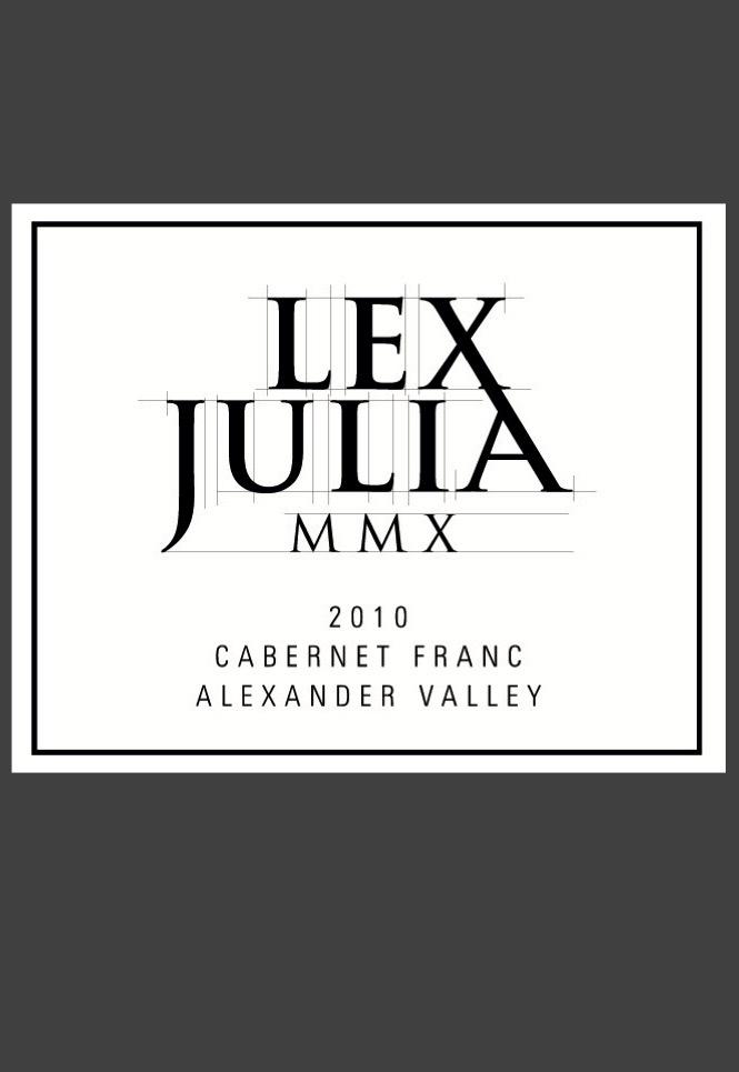 2010 Cabernet Franc, Lex Julia