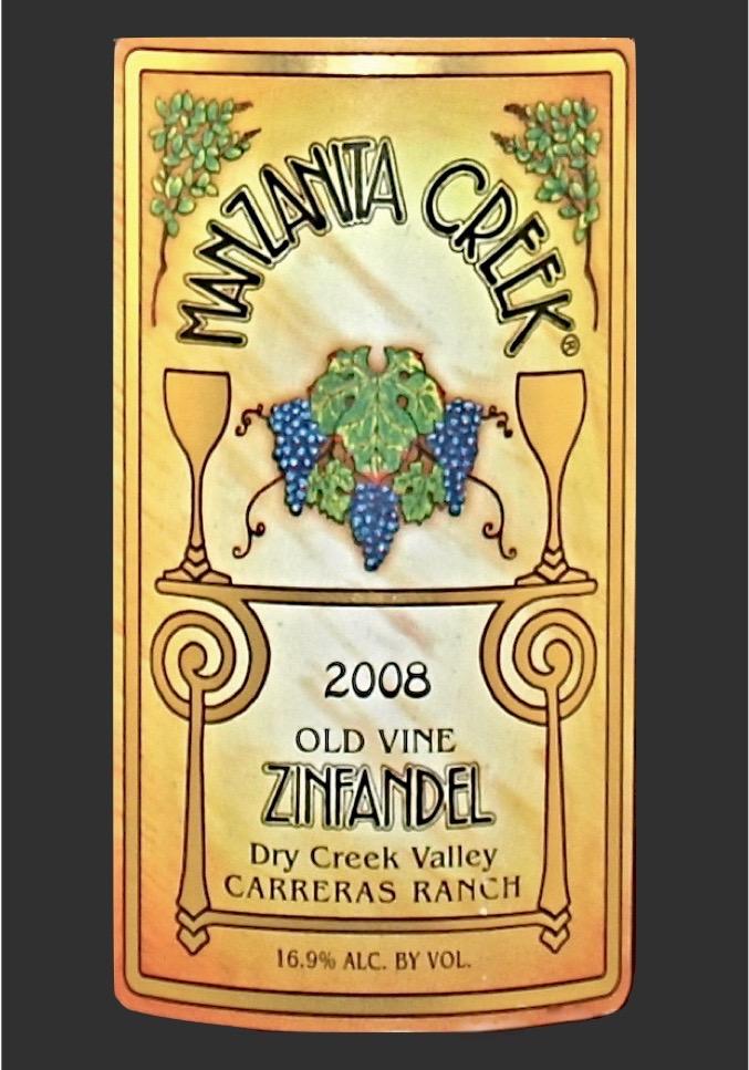 Zinfandel, 2008 Carreras Ranch, Old Vine, Dry Creek Valley