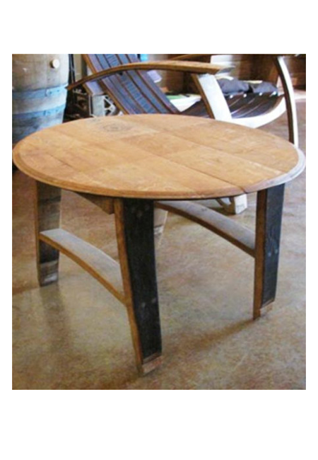 French Oak Barrel Top Table