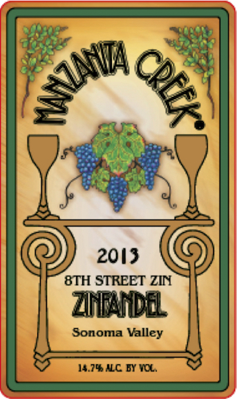 Zinfandel, 2013 8th Street, Sonoma Valley