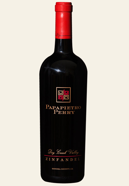 a bottle shot of Papapietro Perry Dry Creek Valley Zinfandel
