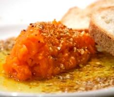 Spicy Carrot Salad & Almond Dukkah