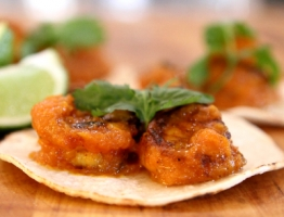 Shrimp Tacos with Spiced Mango Salsa