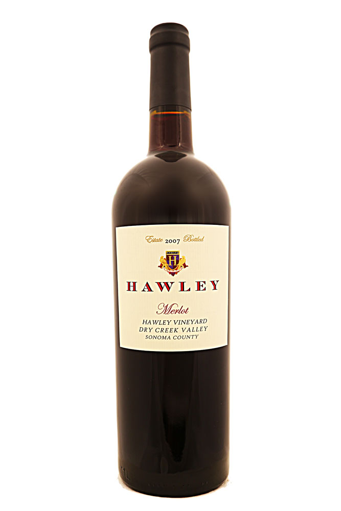 2007 Estate Merlot, Hawley Vineyard