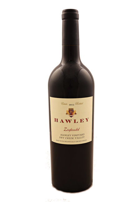 2012 Estate Zinfandel, Hawley Vineyard