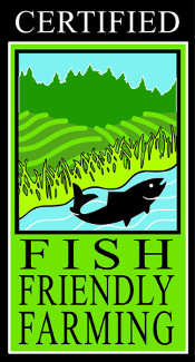 picture of fish friendly farming sign