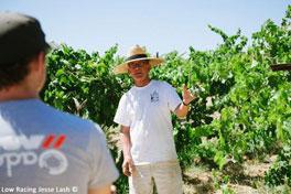 Bill Nachbaur leads a vineyard tour