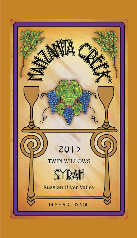 2015 Syrah, Twin Willows Vineyard - Russian River Valley