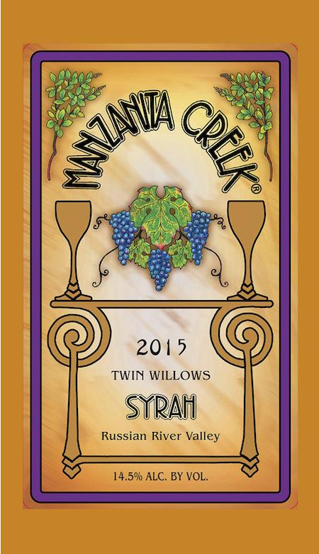 2015 Syrah, Twin Willows Vineyard - Russian River Valley