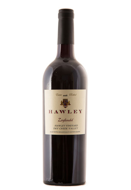 2016 Estate Zinfandel, Hawley Vineyard
