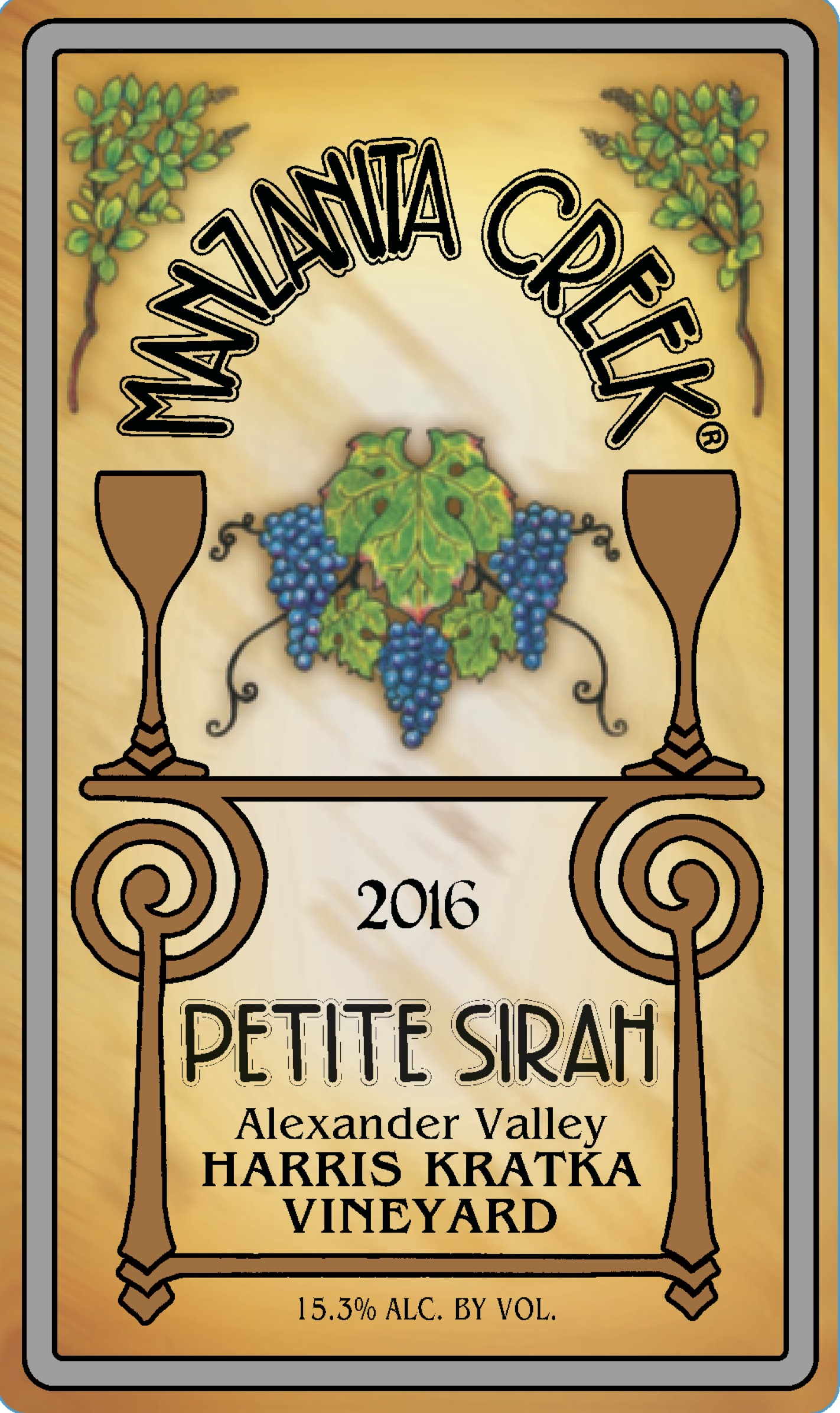 2016 Petite Sirah, Harris-Kratka,  Alexander Valley