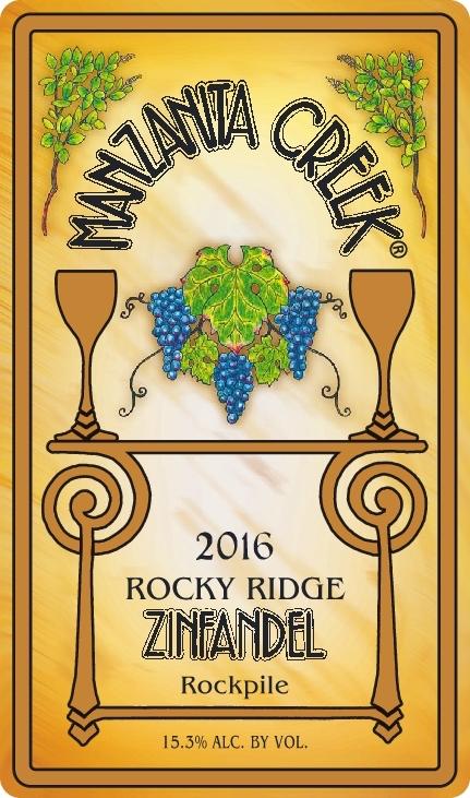 2016 Rocky Ridge Zinfandel, Rockpile