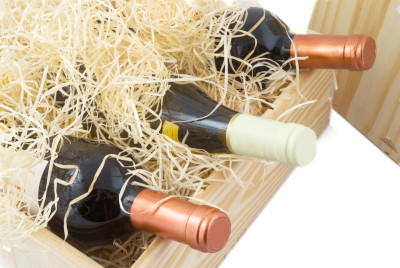 Wine Bottles in Box