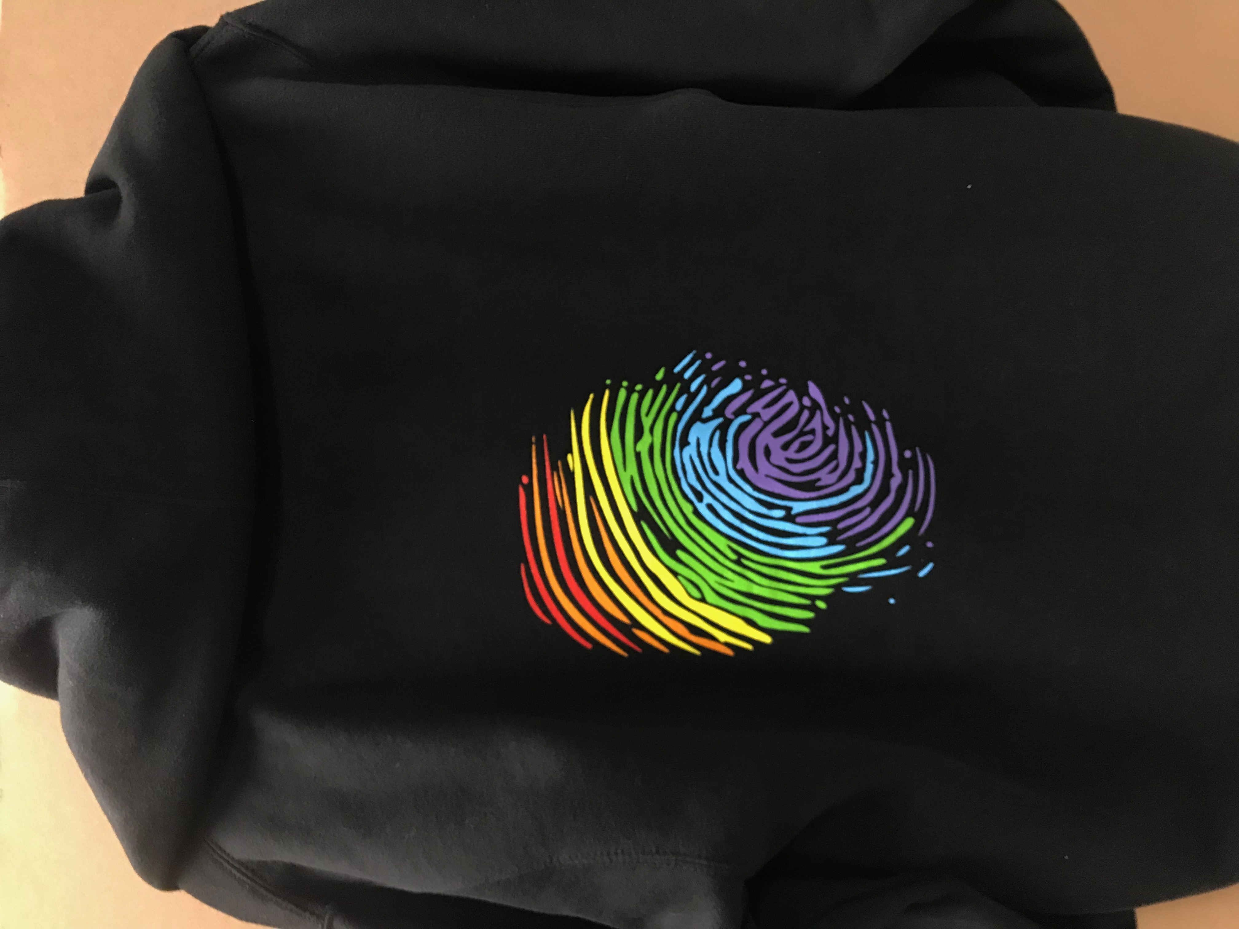 Zip Hoodie Jacket - Rainbow Thumbprint