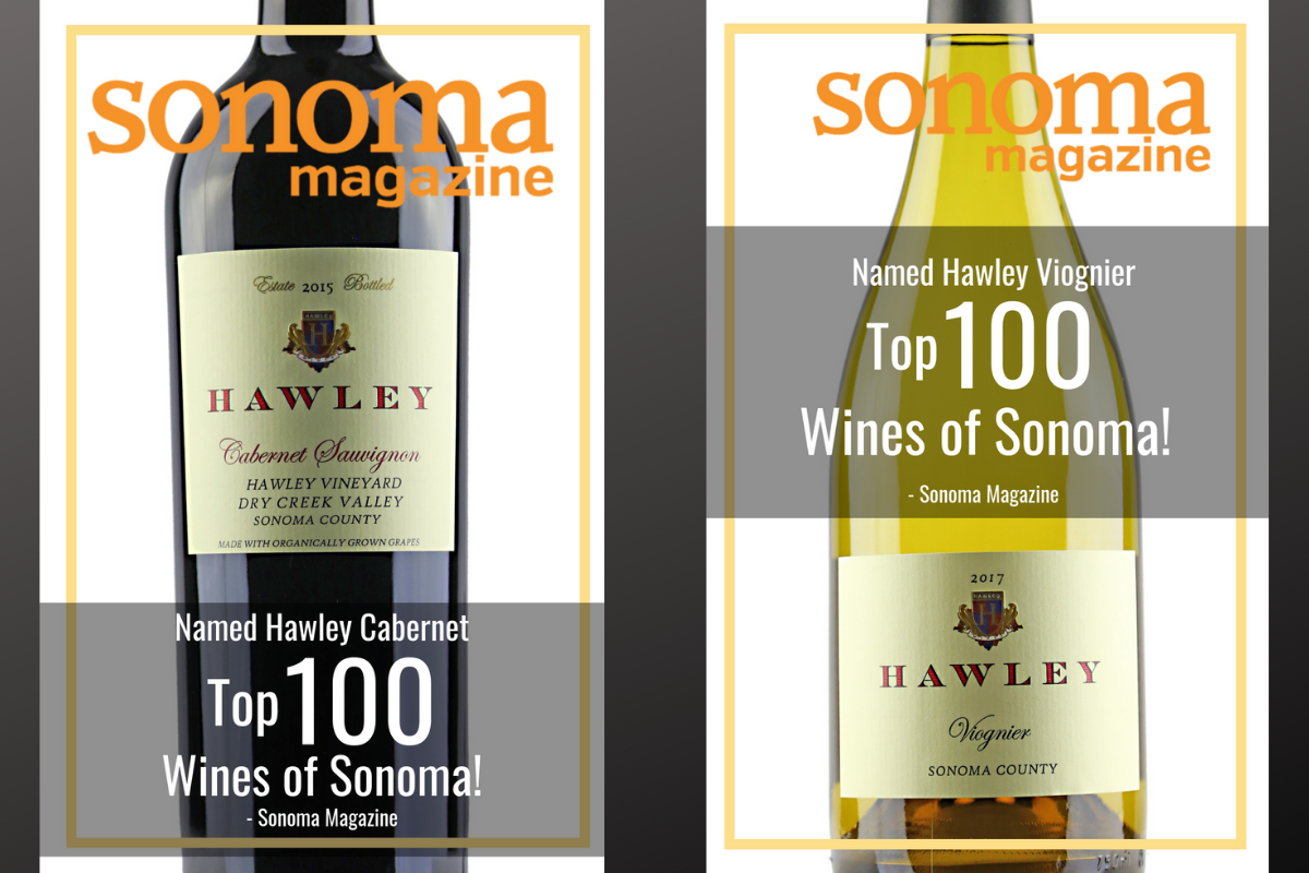 Hawley Viognier & Cabernet named Top 100 Wines of Sonoma County