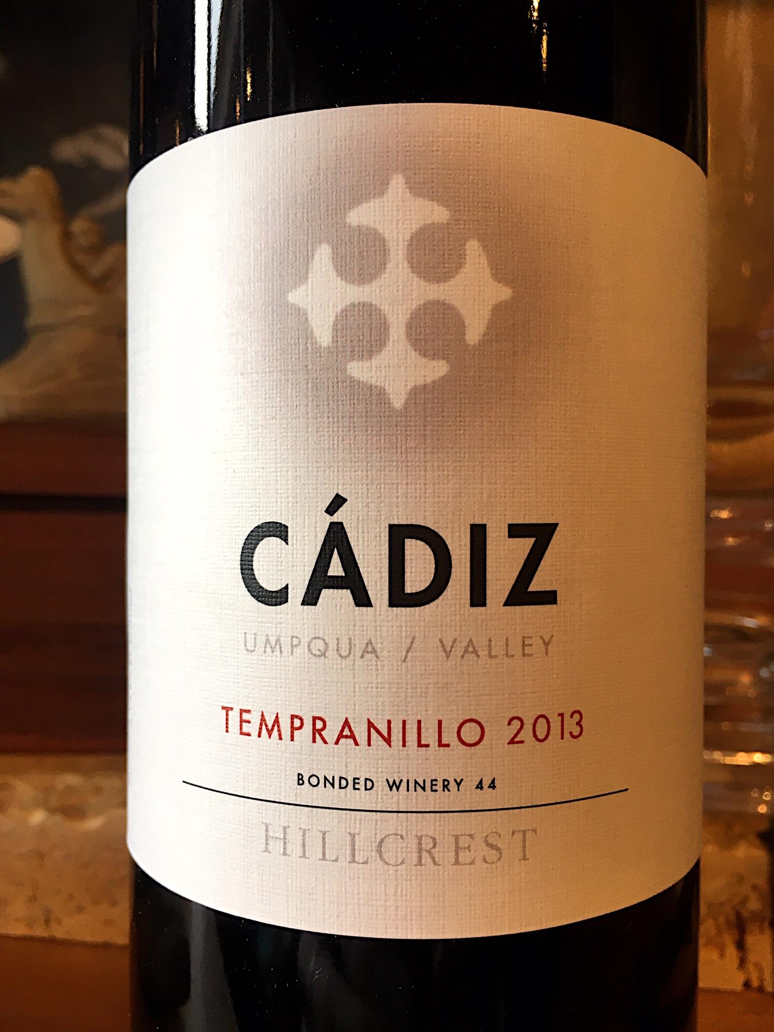 2013 Cadiz, Tempranillo