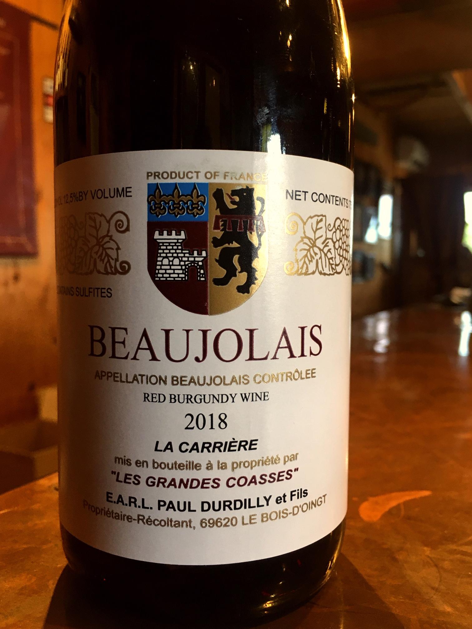 2018 Beaujolais, Les Grandes Coasses