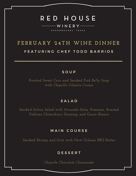 Monthly Wine Dinner- February 24th @ 6:30PM