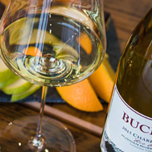 A very appetizing glass of Bucher Chardonnay