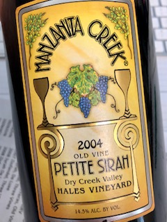 2004 Hale's Vineyard Petite Sirah, Dry Creek Valley