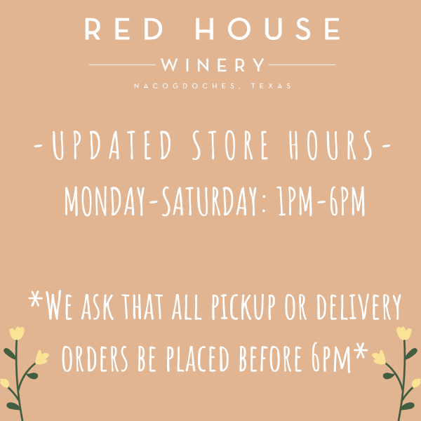 <strong>OUR TASTING ROOM IS CURRENTLY BOTTLES TO-GO/PICKUP ONLY</strong>