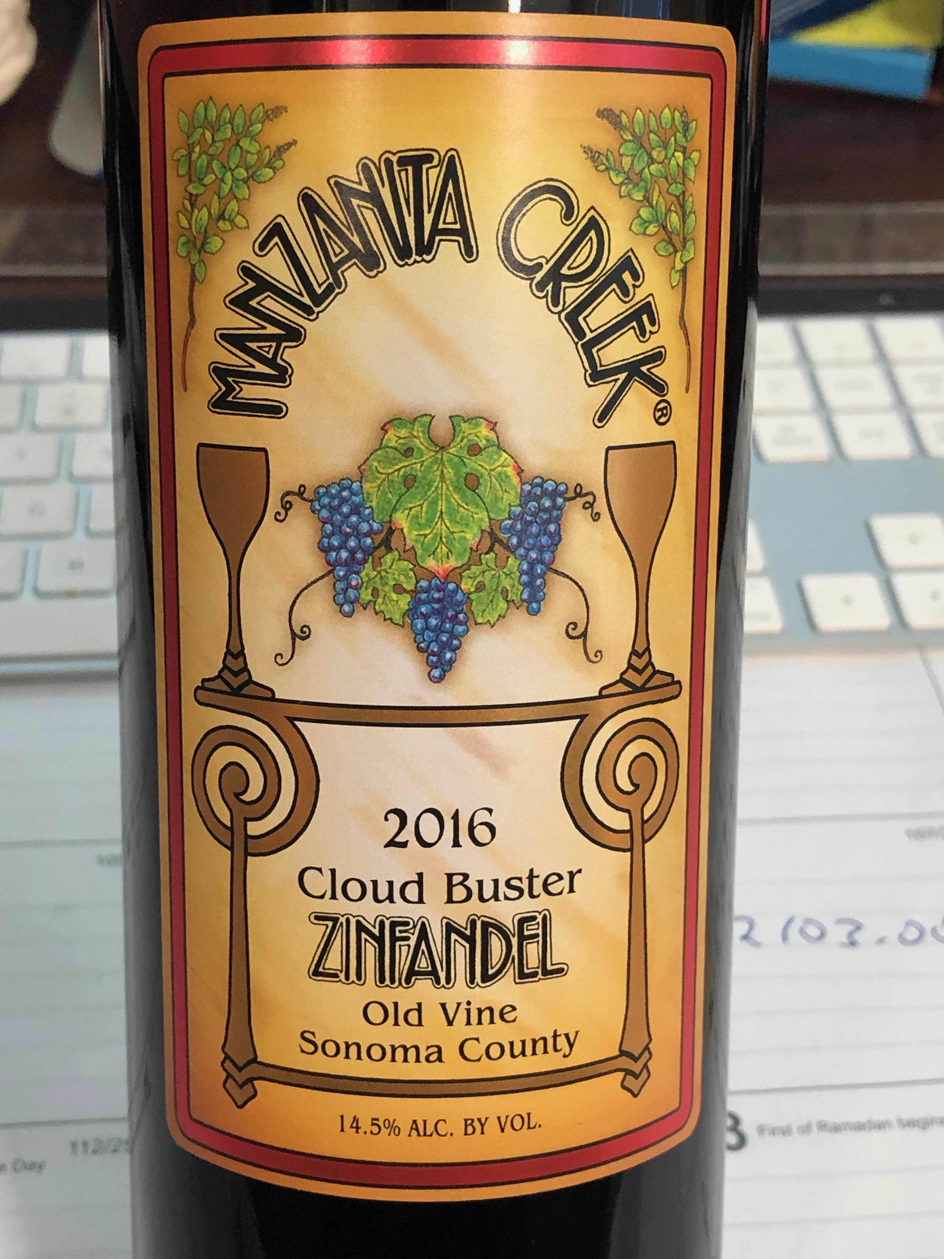 2016 Cloud Buster Zinfandel 12/750