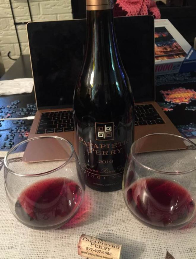 zoom meeting, pinot noir, drink from home, virtual tasting