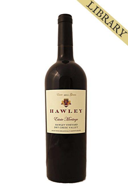 2012 Estate Meritage, Hawley Vineyard -Club Exclusive-