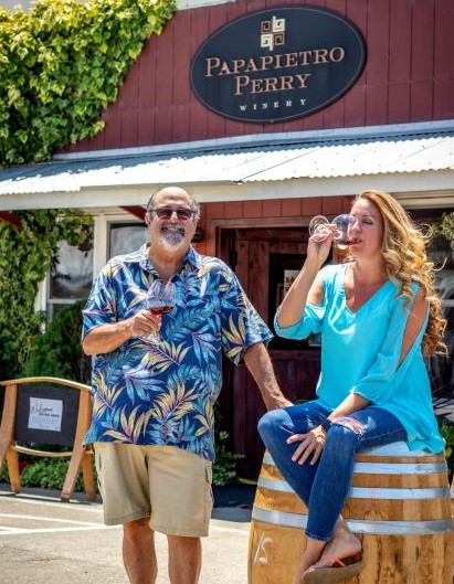 Ben Papapietro, Kristen Greenberg, drinking wine, wine, rose, pinot, pinot noir, wednesdays, summer, winery
