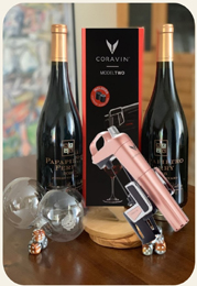 High Roller gift package with Pinot Noir and Coravin